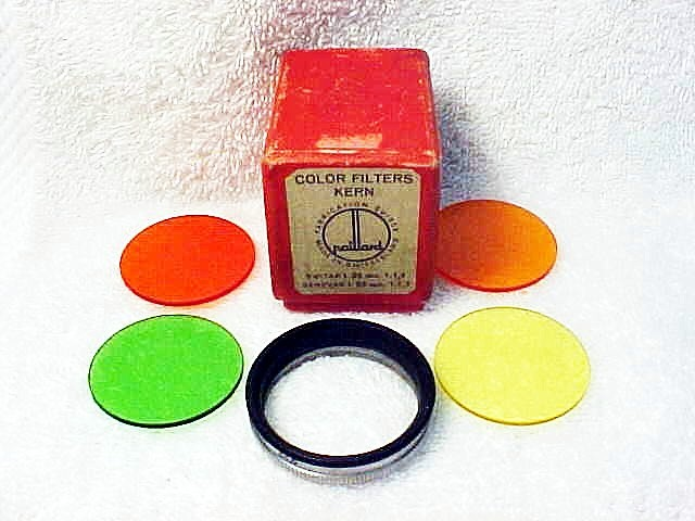 Bolex Filter Set with 33.5mm Slip-on Adapter Ring (No 12)