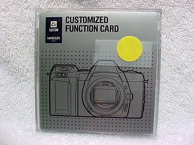 Function Card for 5000i/7000i/8000i Maxxum Cameras