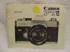 FTb Canon Instructions, 47 pgs - $20.00