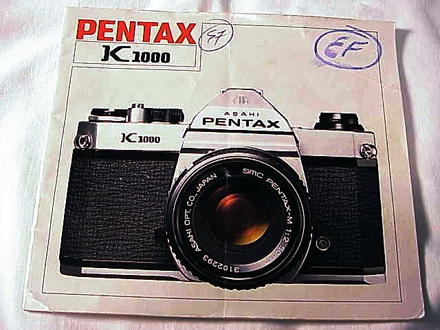 K1000 Pentax K1000 Instruction Booklet, 32pgs.