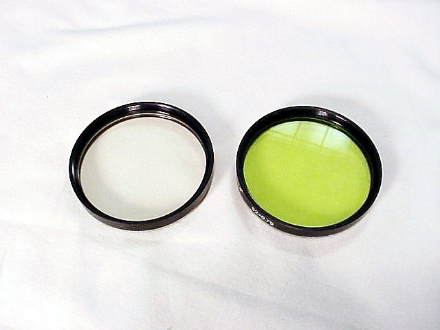 Kiev 60 UV and Yellow/Green filters for 80mm f2.8 Lens