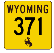 Wyoming Highway 371 Sticker R3526 Highway Sign  - $1.45+