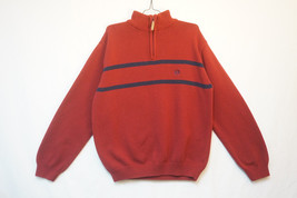 Chaps Ralph Lauren Heavy Leather-Zipper 1/2-Zip Sweater, Unused, Mens Large 7974 - $19.21