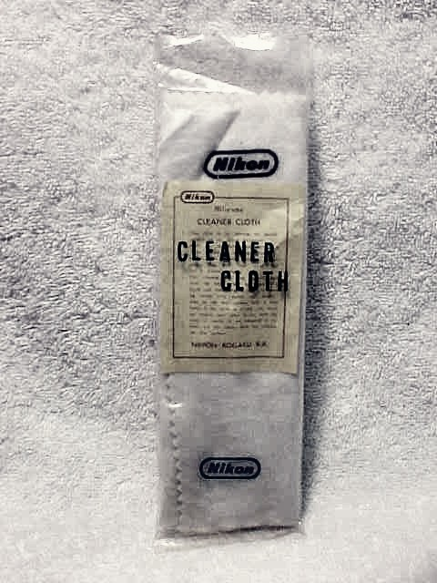 "Nikon F Camera Body Cleaning Cloth Stamped ""Nikon"""