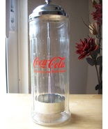 1992 Coca Cola Vintage Replica Glass Straw Dispenser  - $40.00