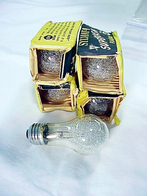 5 Press 40 Sylvania  Clear Flashbulbs with screw in househol
