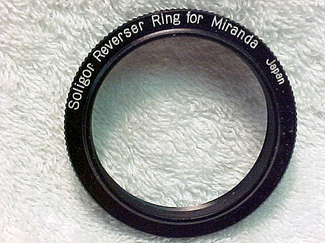 Reversing Ring Soligar Brand for Macro on Miranda Cameras