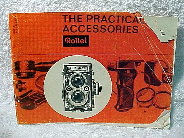 "Rollei Booklet 1963 ""The Practical Accesspries"" 27 pages (xe"
