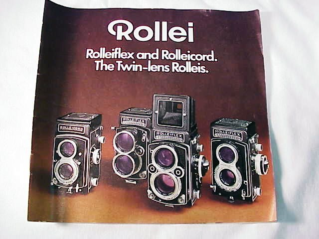 Rolleiflex & Rolleicord The Twin-Lens Rolleis, 19pg 1971 (xe