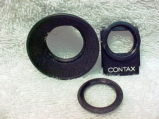 Rubber Eyecup for Contax Series (with slip on metal mount)