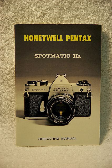 Spotmatic IIa booklet New