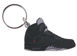 Good Wood NYC Metallic 5 Black Sneaker Keychain Blk V Shoe Key Ring key Fob