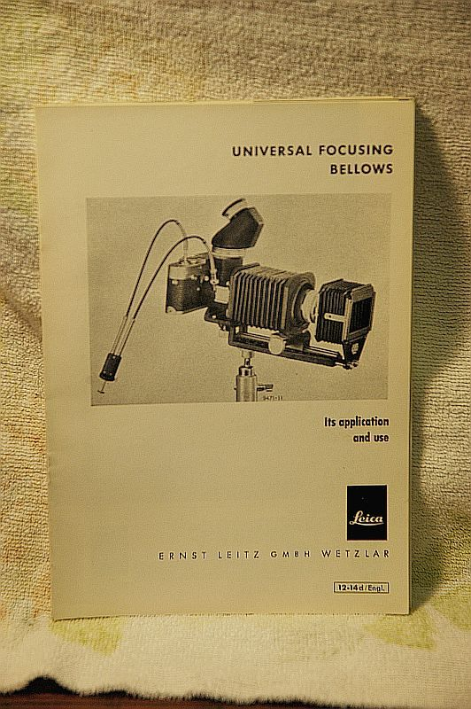 Universal Focusing Bellows Pamphlet