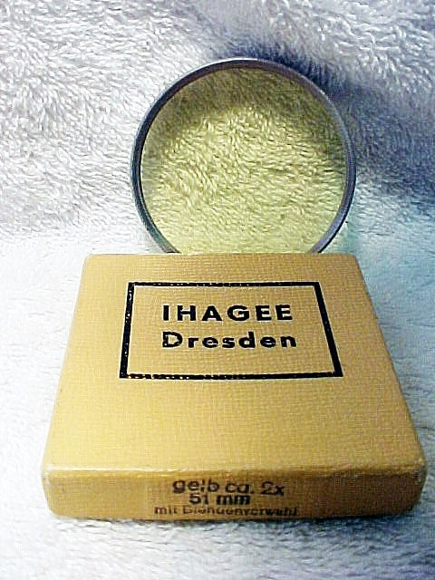 Yellow Filter for Exakta Cameras (51mm Slip-on) Dresden