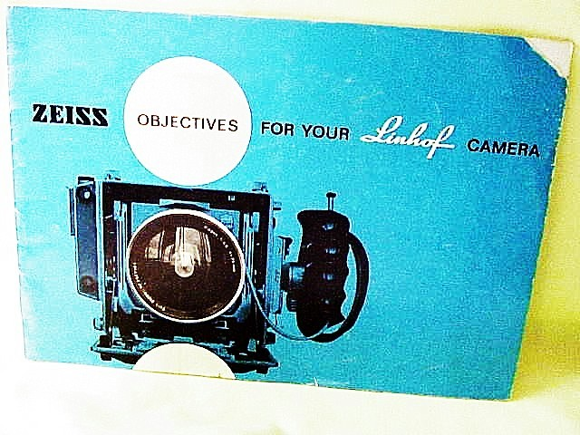 Zeiss Objectives for Your Linhof Camera, 15pgs, 1961 (xerox)