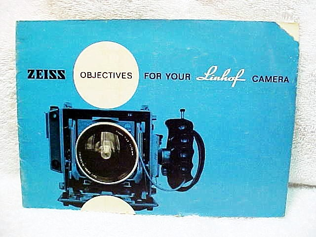 Zeiss Objective for Your Linhof Camera,15pgs, 1961 (xerox)