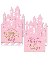 Little Princess Crown - 20 Shaped Fill-In Invitations and 20 Shaped Than... - $37.77