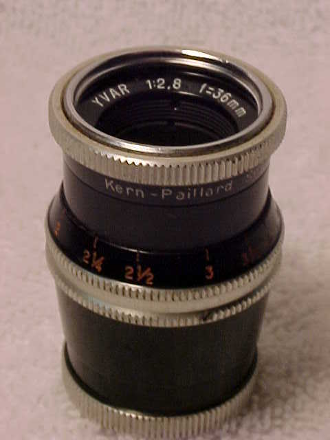 36mm f2.8 YVAR D Mount Lens for 8mm Compact Bolex (No 21)