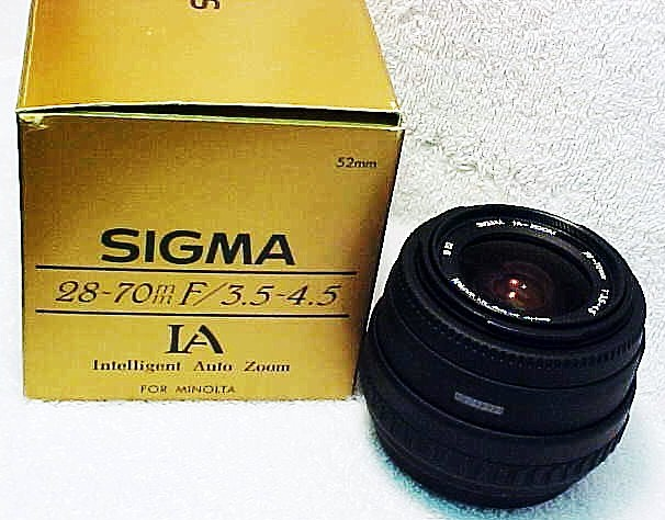 28-70mm f3.5-4.5 Auto Zoom Sigma for Maxxum Xi & Dynax (New)