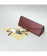 Black Reading Glasses +1.25 Spring Temples w/ Metallic Red Foldable Case... - $19.99