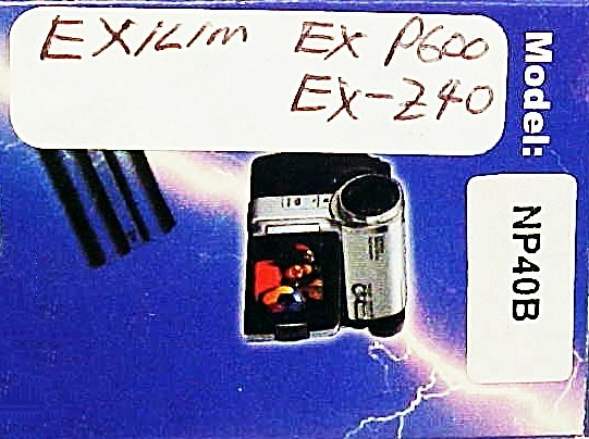 NP40B Battery for Exilim EX-P600 or EX-Z40 Cameras