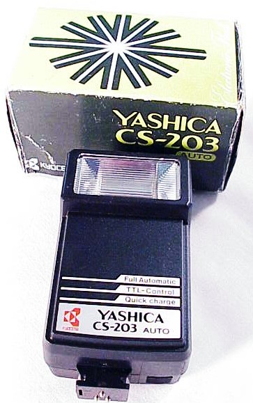 Yashica CS-203 Auto Flash on all Yashica/Contax SLR's (new)