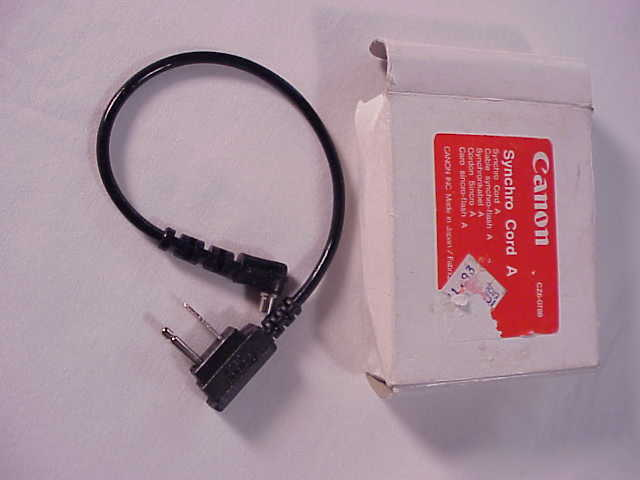 Canon Sync Cord A for many older Canon Flashes  (new)