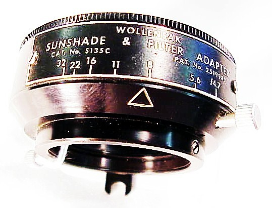 Special f stop viewing hood for 127/135mm Optar View Lenses