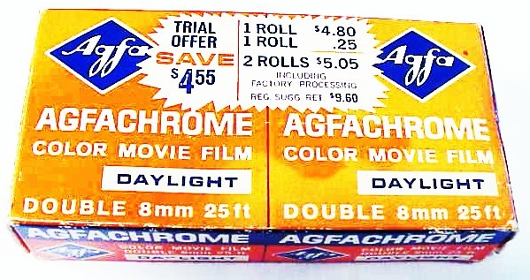 Agfachrome Double 8 Color Movie Film July 1970