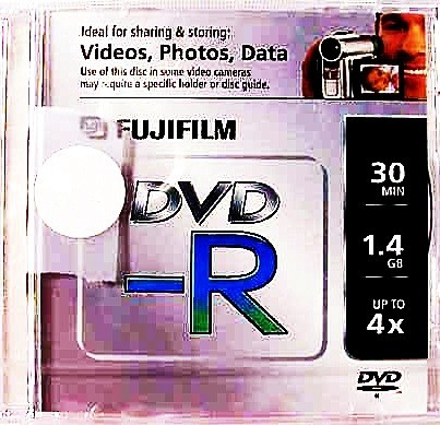 Fujifilm DVD-R 30min 1.4GB up to 4X in jewel case