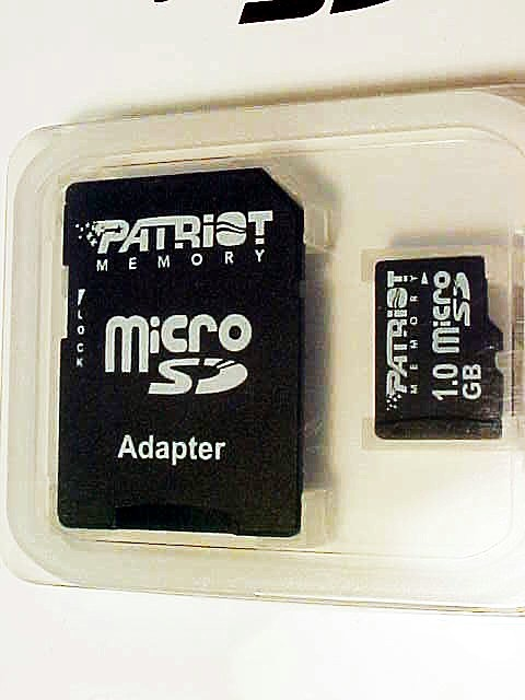 1GB Patriot Micro SD with the SD card Adapter (new)