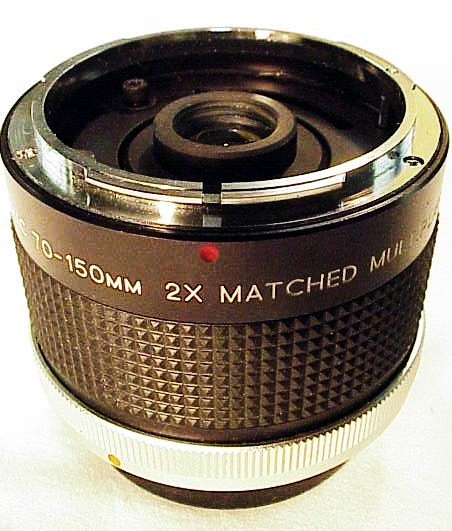 2X Vivitar MC 70-150 Matched Multiplier (fits any CA FD lens