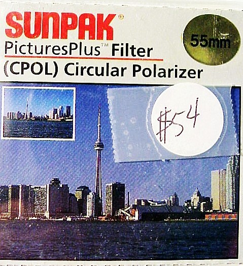 55mm Sunpak Circular Polarizer (new)