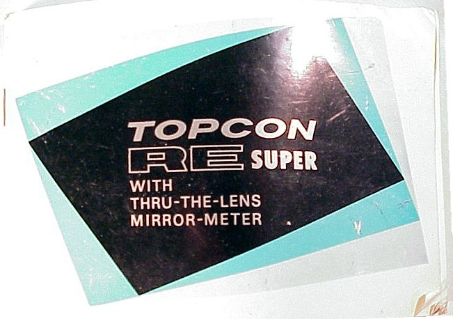Topcon RE Super Instructions 114pgs (xerox)