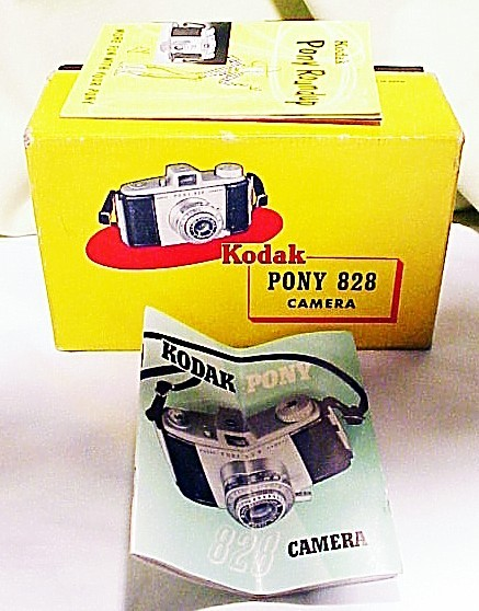 Kodak Pony 828 camera Box, Accessory Phamplet , Instructions