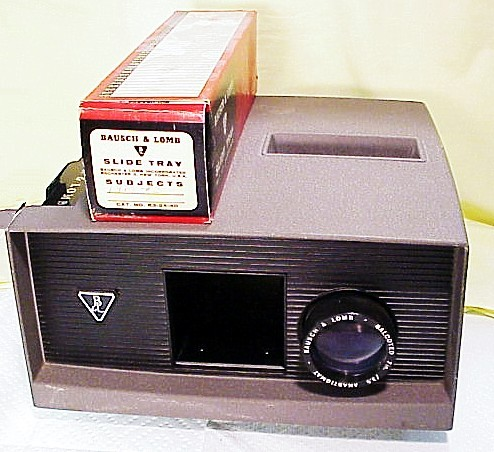 2 1/4 x 2 1/4 Bausch & Lomb Slide Projector with 2 Trays