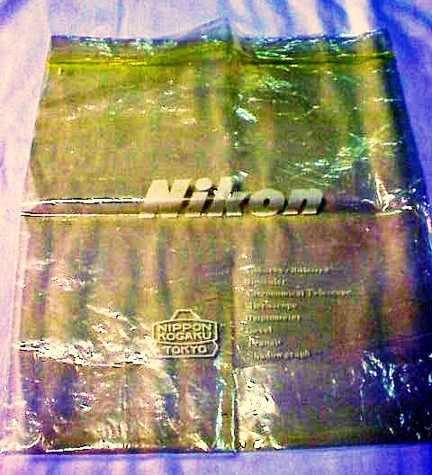 Nikon Vintage Plastic Bag (yellow colored)