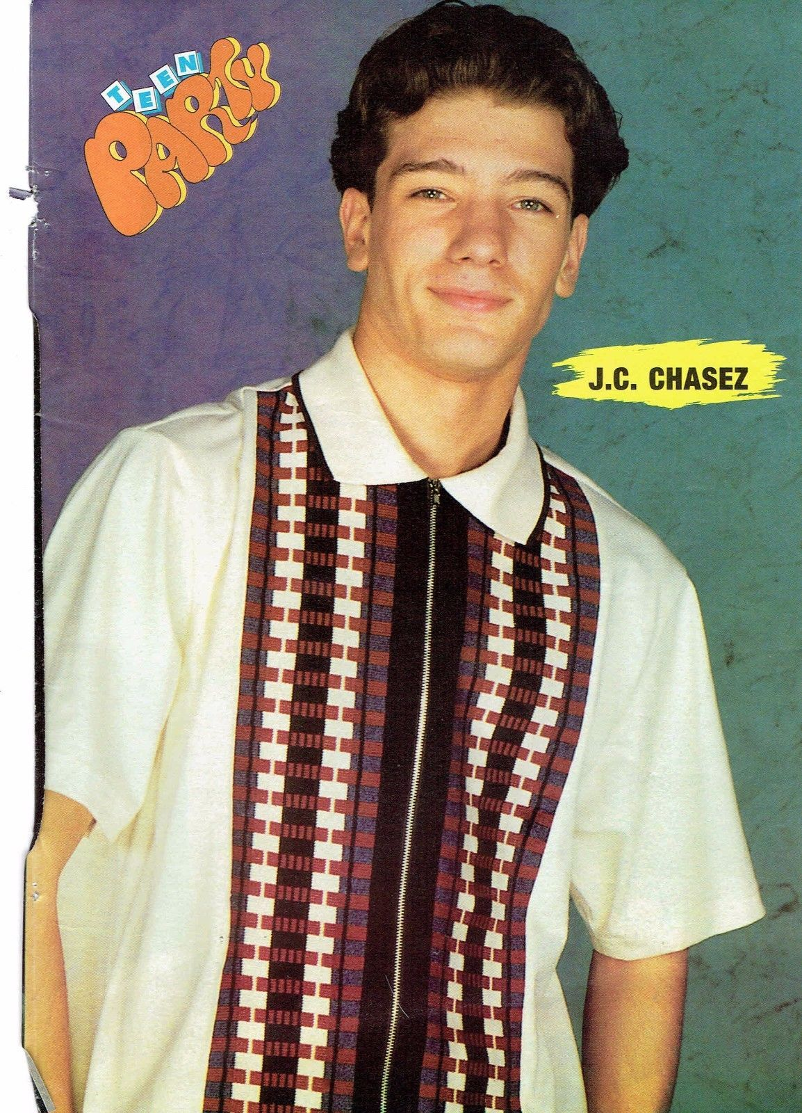 JC Chasez teen magazine pinup clipping Tiger Beat Teen Beat NSYNC