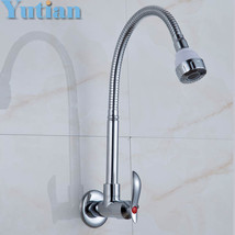 HOTAAN Hot-sell Brass Kitchen Faucet single Sink Cold Tap torneira YT-6026-B - $35.95