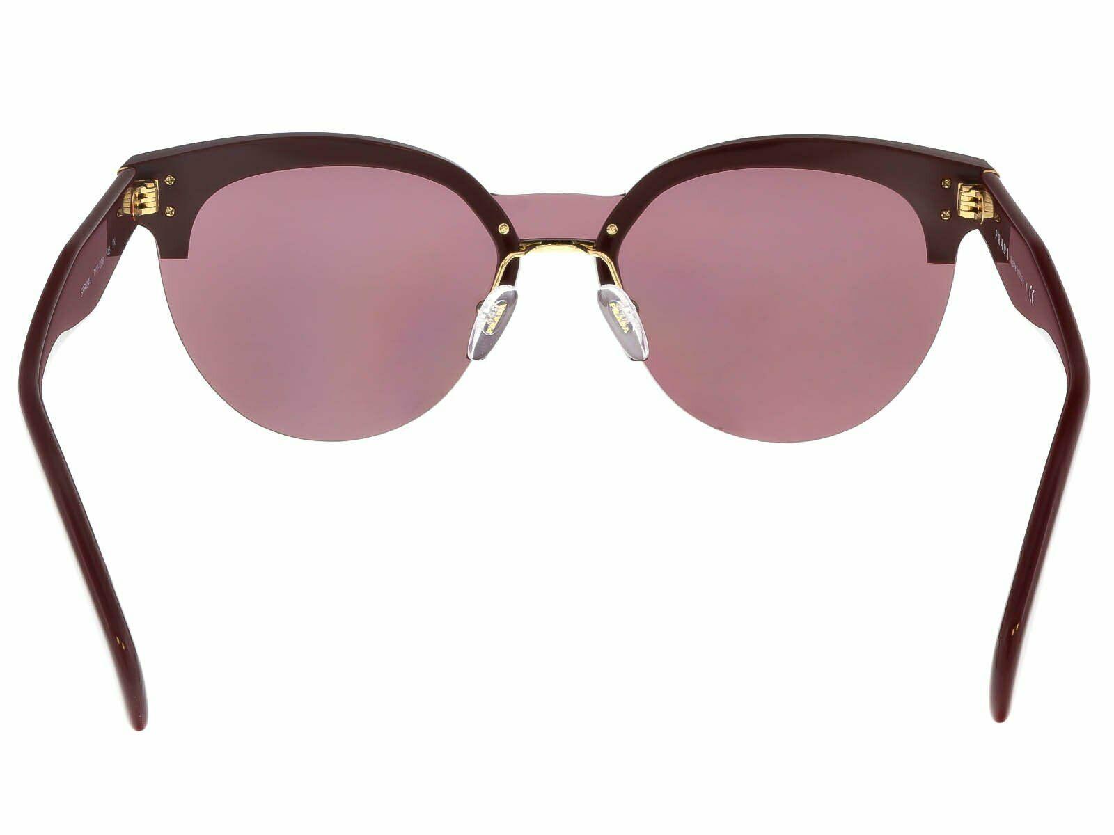 NEW PRADA Cat Eye Women's Sunglasses PR 04US TY7098 Bordeaux Gold
