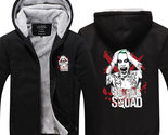 Suicide squad hoodie winter thick black zip sweatshirt joker thumb155 crop