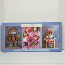 """Anne Geddes Deluxe Puzzle Set Three 500pc Floral Scene Puzzles 20""""x16"""" 12+ - $19.99"""