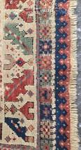 Pre 1900 Antique Caucasian Shirvan rug 4 ft. 5 in. X 34 in. Gorgeous c... - $923.94