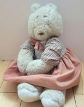 Mattel Emotions Mommy Bear Plush Dressed 1983 Stuffed Animal Missing Bab... - $14.50