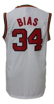 Len Bias #34 College Basketball Jersey Sewn White Any Size image 5