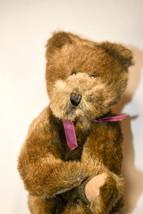 Boyds Bears: Theadore - 12 inch Plush - Dark Brown Bear - Purple Bow - $18.31