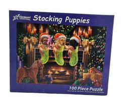 """Stocking Puppies"" - 100 Pc Puzzle - Vermont Christmas Company - Labrado... - $10.84"