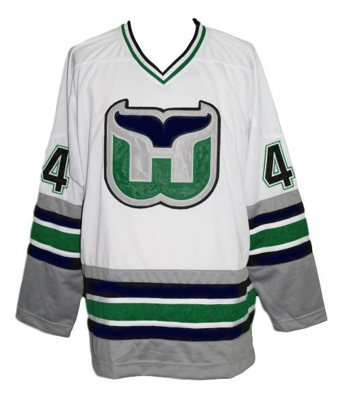 Any Name Number Whalers Retro Hockey Jersey New Sewn White Pronger #44 Any Size