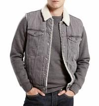 New Levi's Men's Premium Button Up Sherpa Fleece Lined Multi Pocket Denim Vest image 2