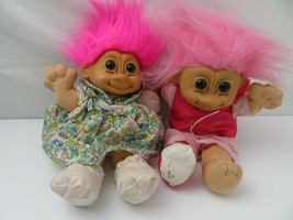"Vintage Russ Troll Doll (Lot of 2) 12"" Stuffed Toy - $49.49"